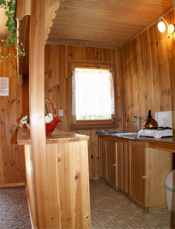 Domki w Mikołajkach, domek nr.2, aneks kuchenny