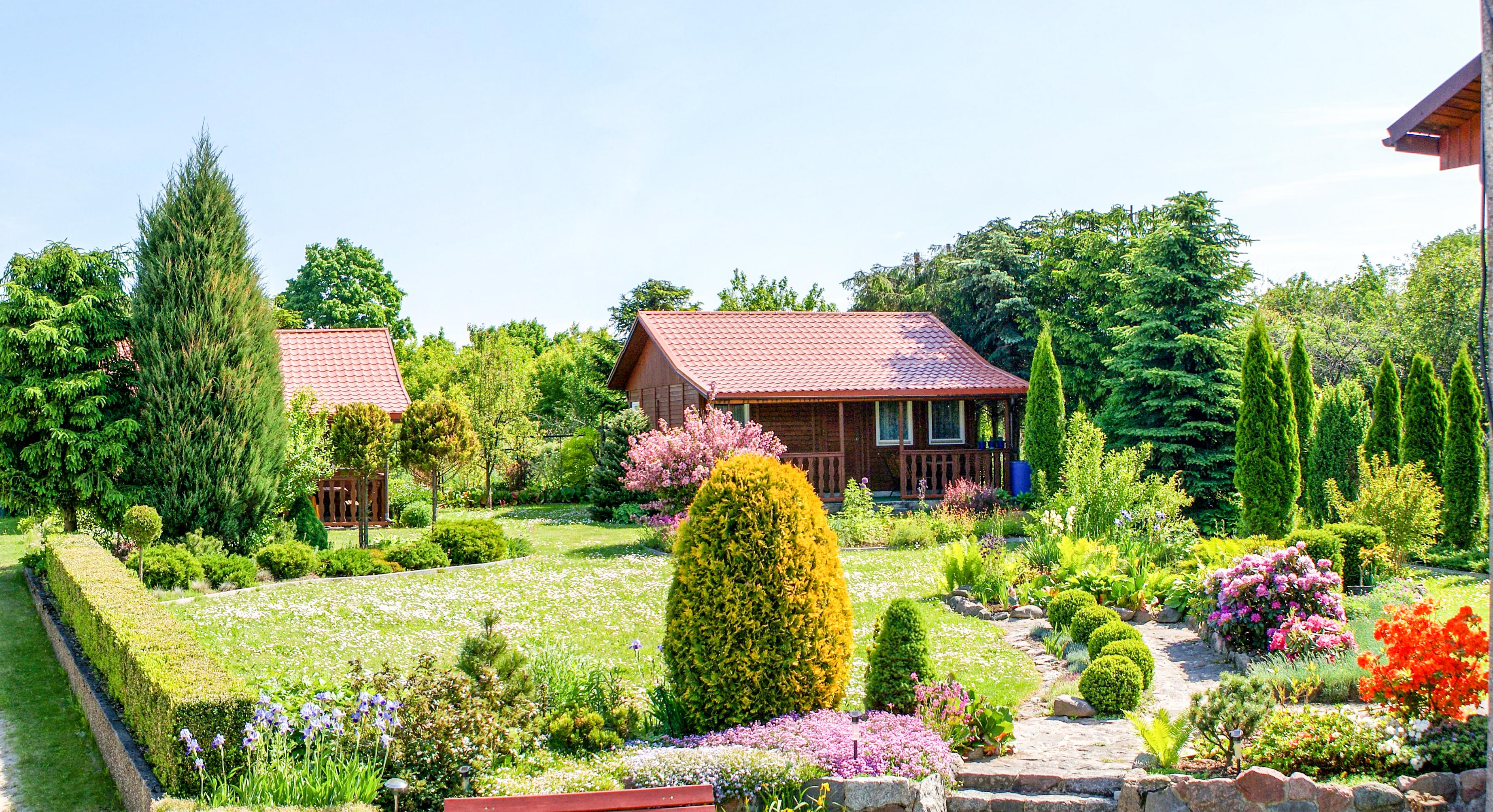 Noclegi w Mikołajkach, ogród